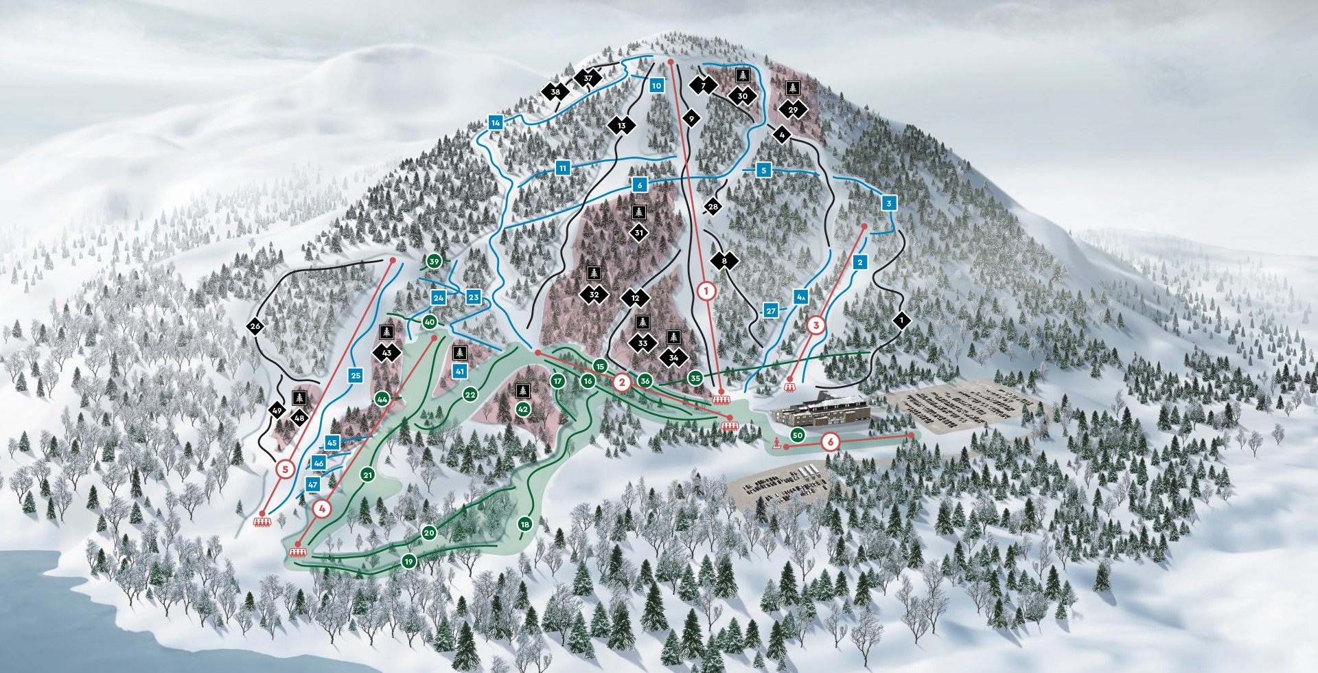 owl's head - carte des ski